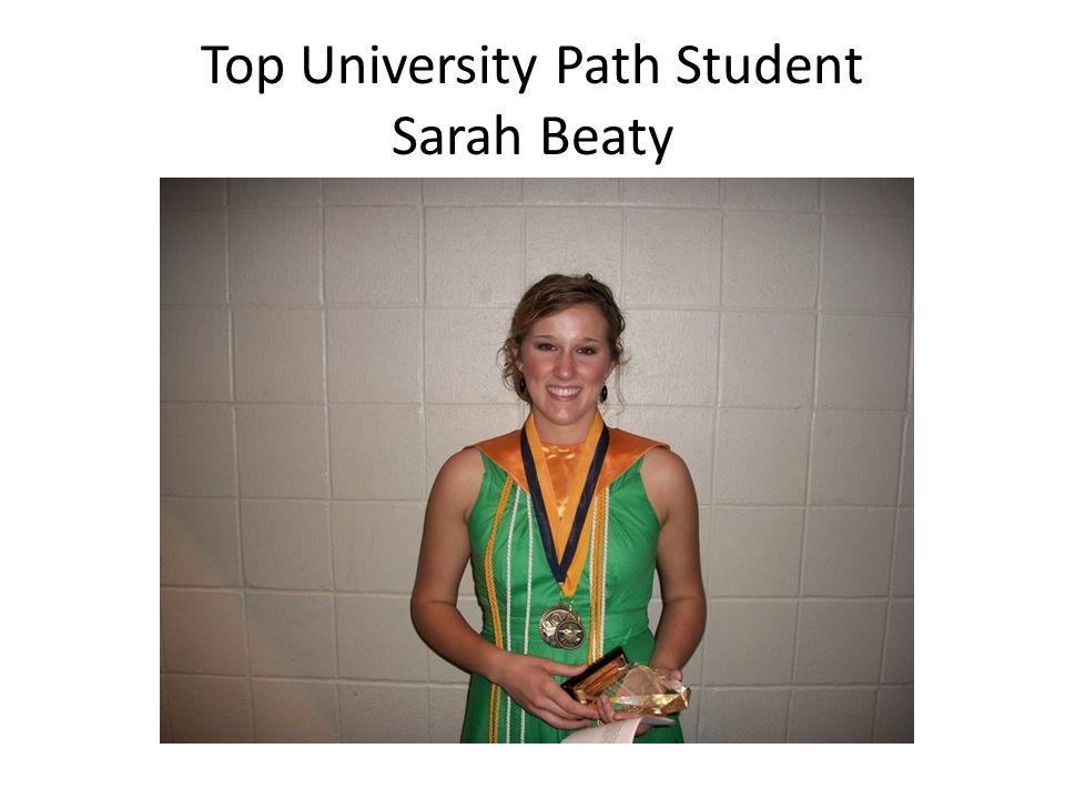 Top University Path Student Sarah Beaty