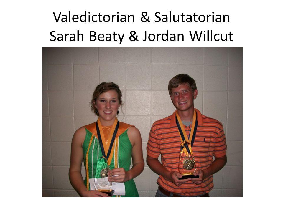 Valedictorian & Salutatorian Sarah Beaty & Jordan Willcut