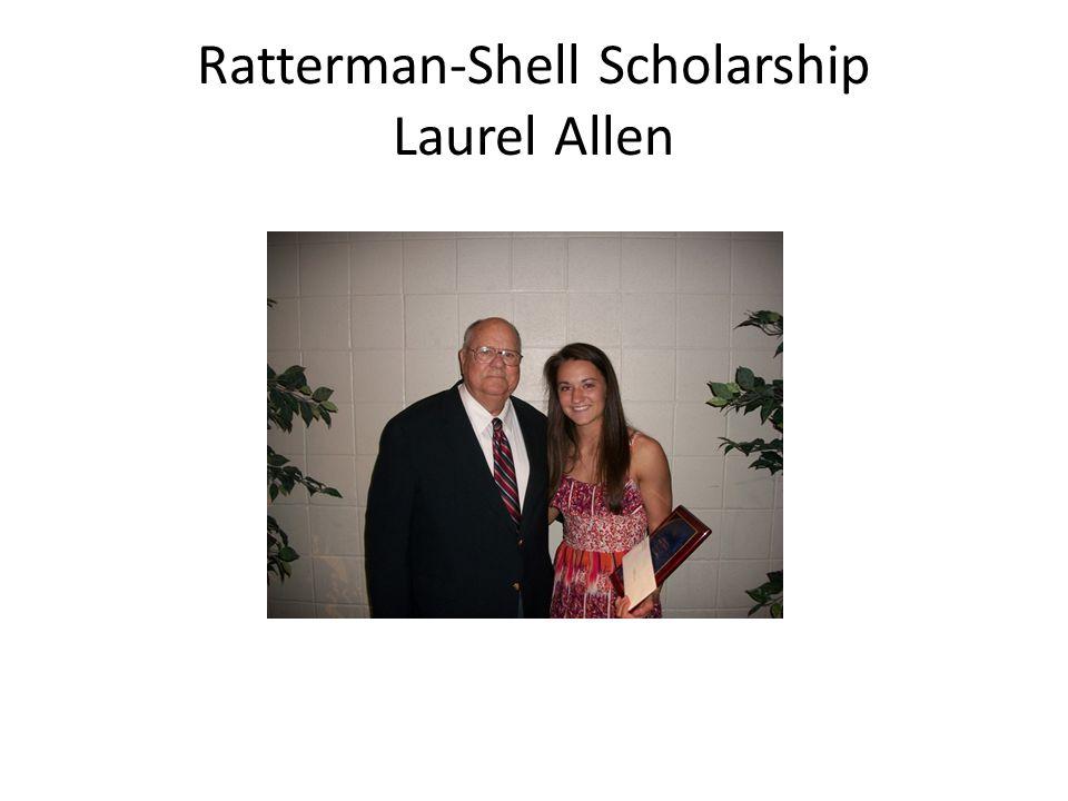 Ratterman-Shell Scholarship Laurel Allen