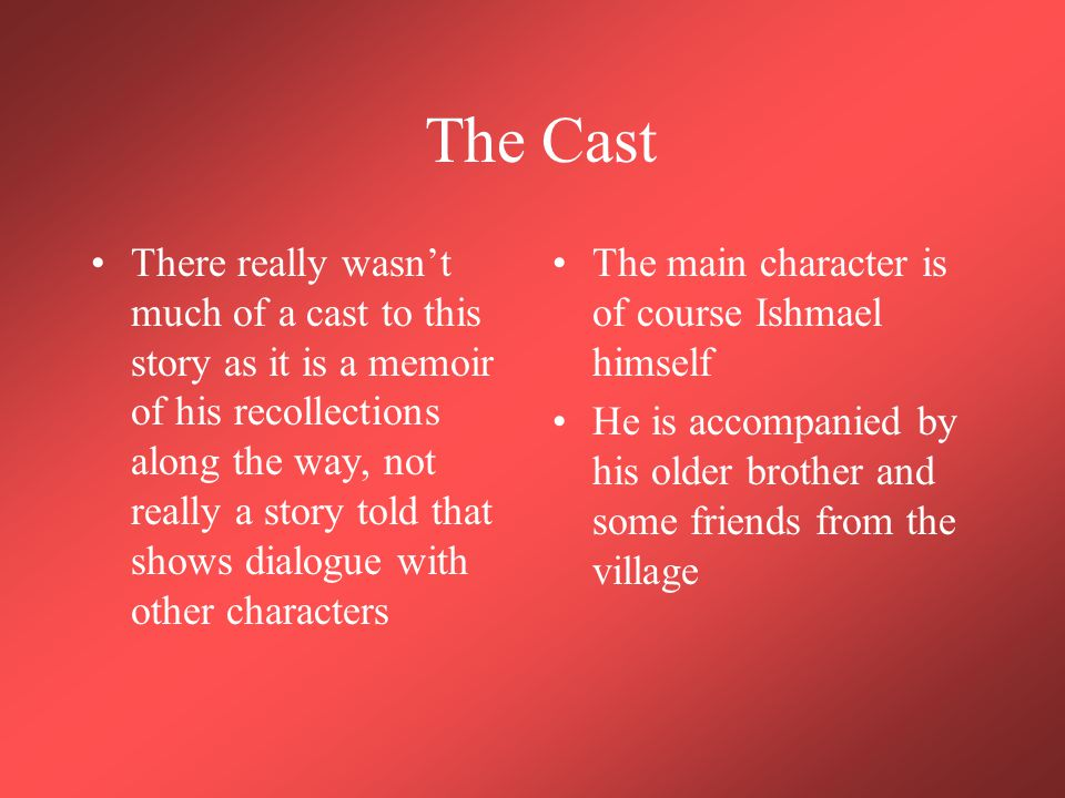The Cast He ends up getting split up with his brother and friends during an R.U.F.