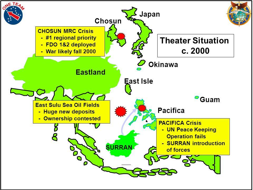 Guam Okinawa THREATS: EASTLAND SURRAN PPF Pacifica Chosun Eastland Surran East Isle PPF Japan
