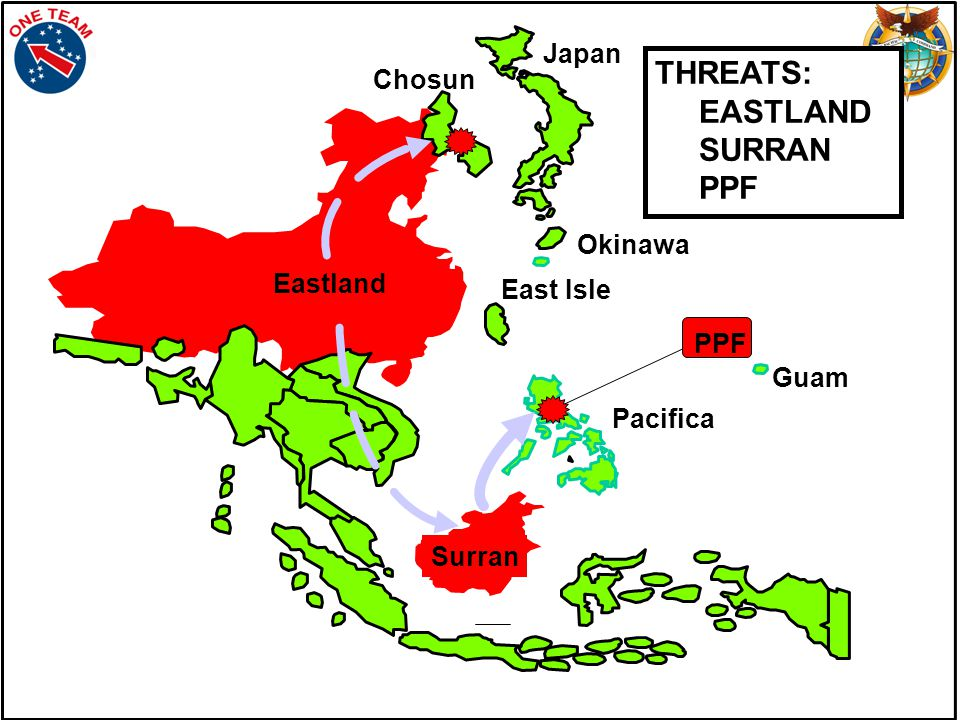 Guam Okinawa THREATS: EASTLAND SURRAN PPF Pacifica Chosun Eastland Surran East Isle PPF Japan