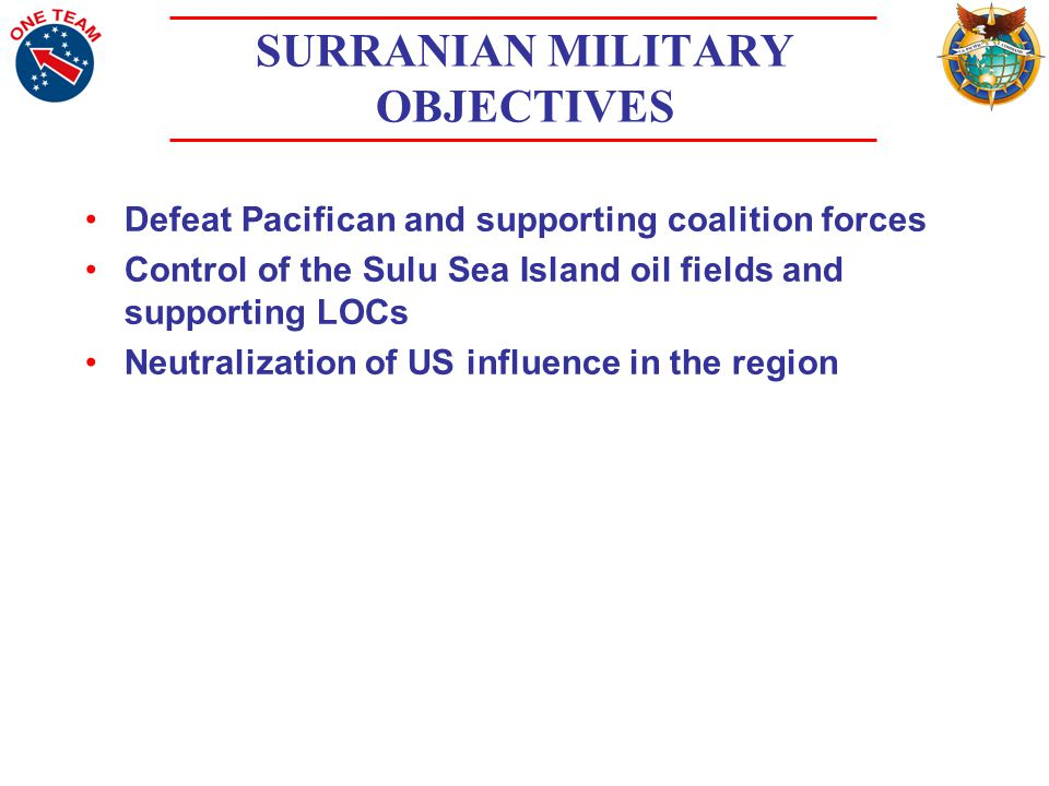 SURRANIAN ACTIONS SURRAN conducted landings at the Invitation of the PPF to help defend TUGUEGARDO and Surranian ethnic rights in the region.