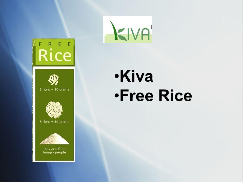 Kiva Free Rice