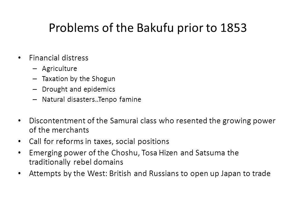 Domestic tensions grow……………..The Shishi was class of young discontented Samurai.