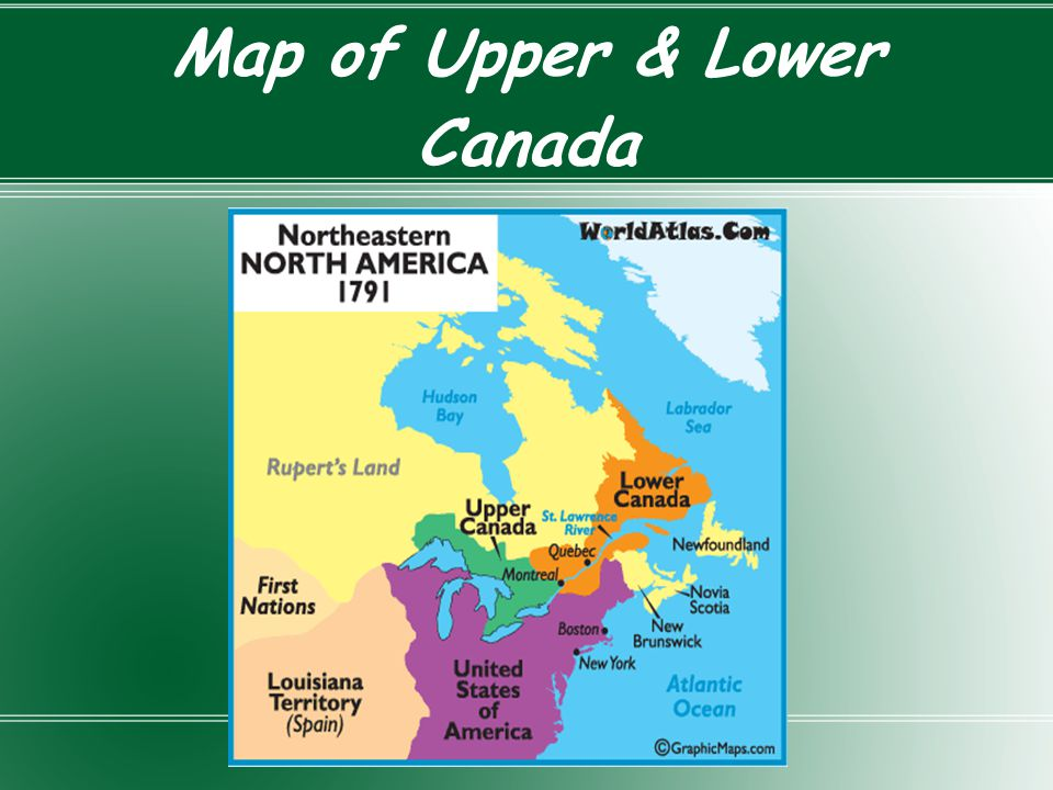 Map of Upper & Lower Canada