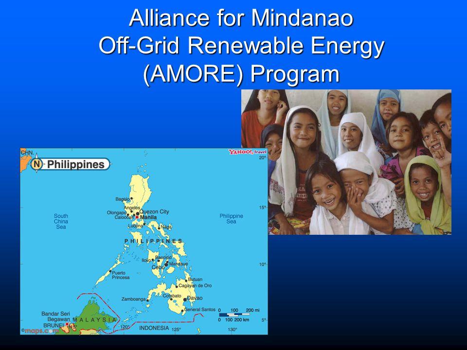 Alliance for Mindanao Off-Grid Renewable Energy (AMORE) Program