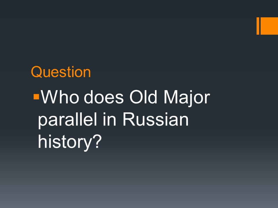 Question  Who are the pigs in the Russian Revolution?