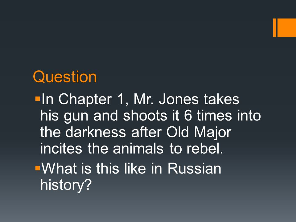 Question  In Chapter 1, Mr.