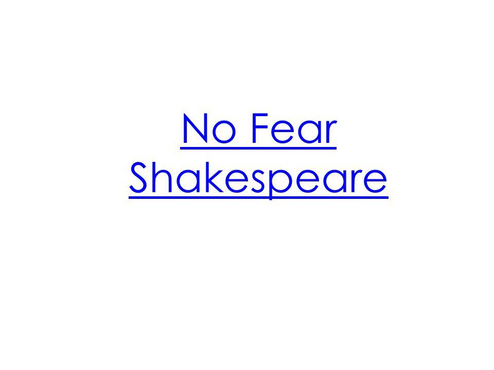 No Fear Shakespeare