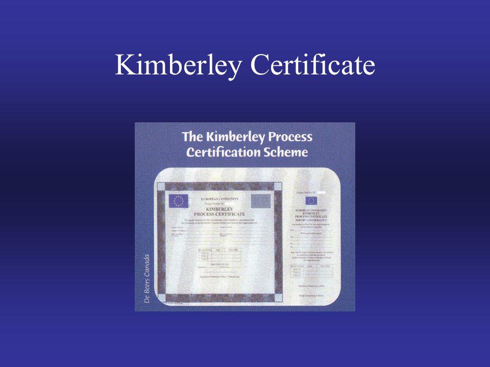 Kimberley Certificate