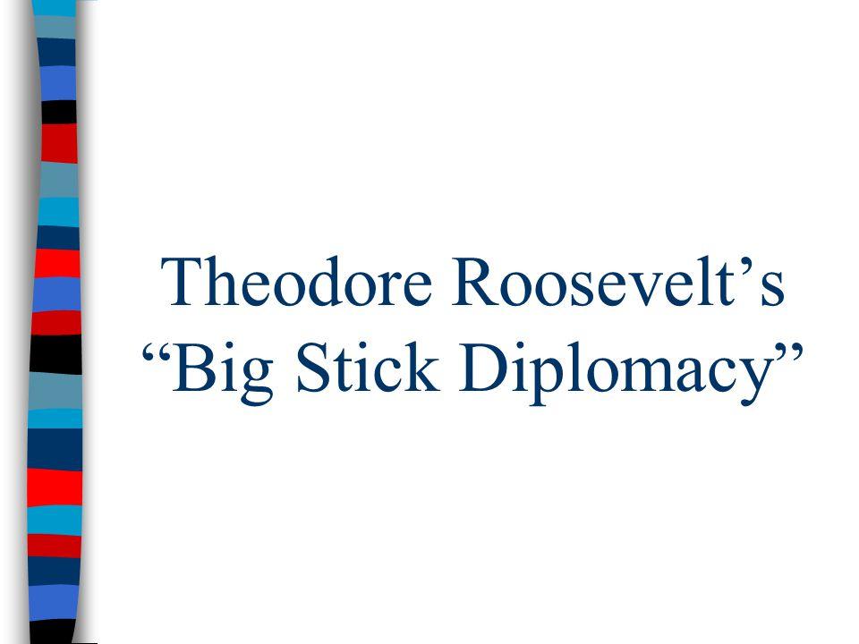 "Theodore Roosevelt's ""Big Stick Diplomacy"""