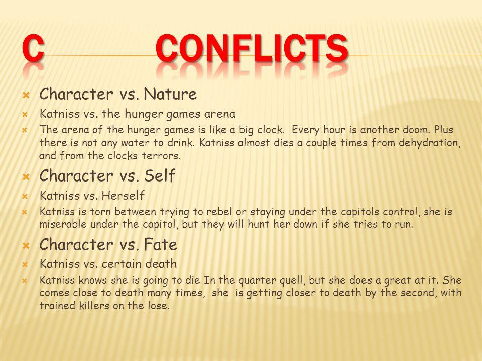  Character vs. Nature  Katniss vs.