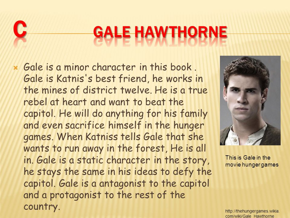  Gale is a minor character in this book.