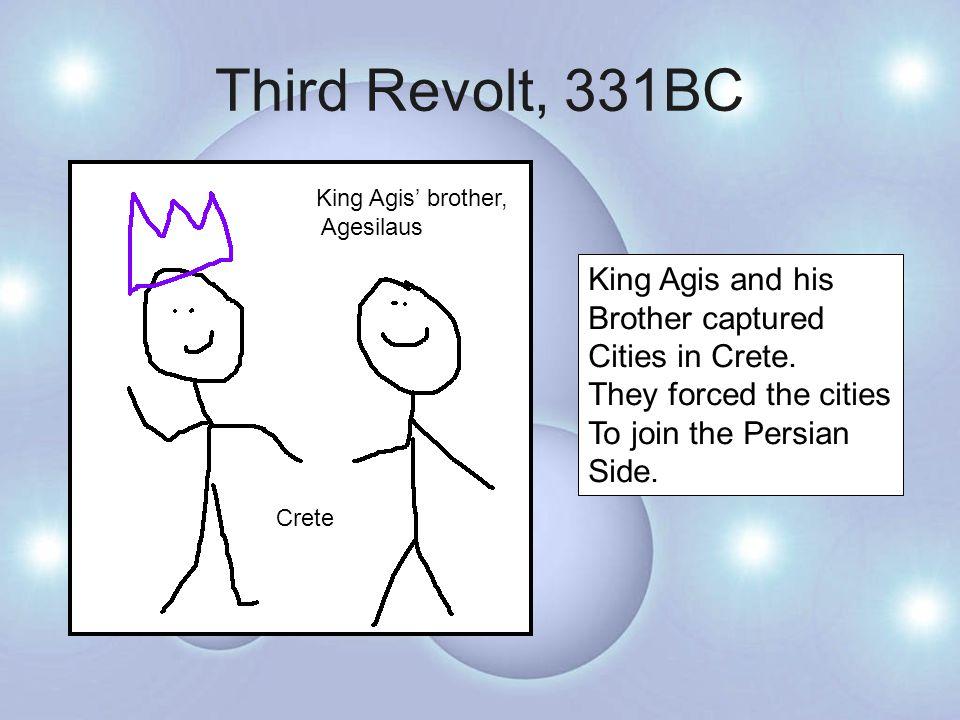 Third Revolt, 331BC Back on the mainland.