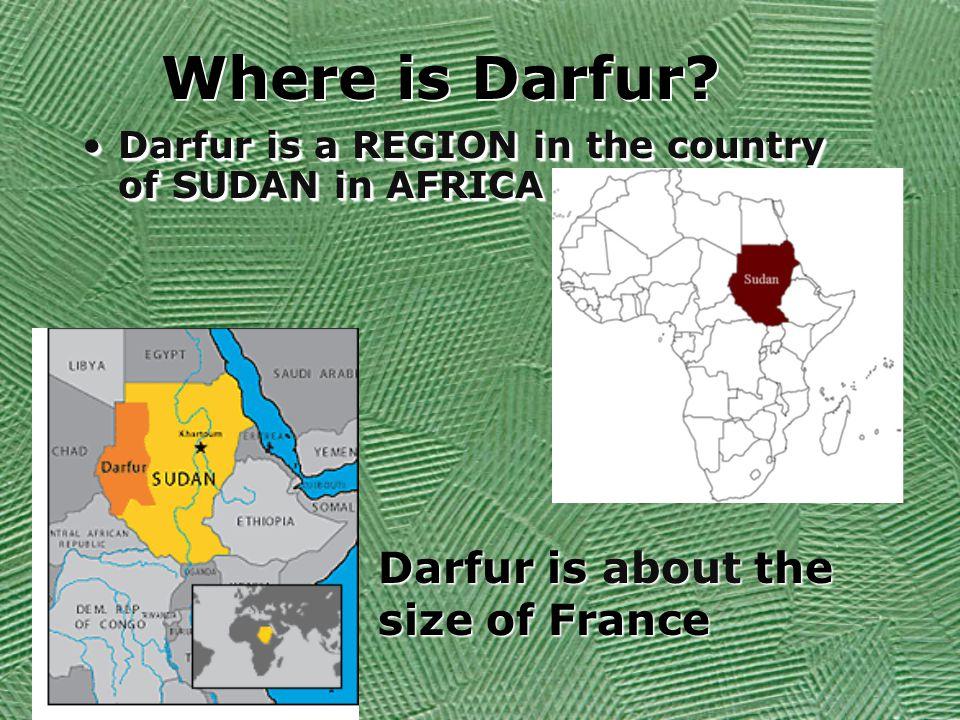 Where is Darfur.