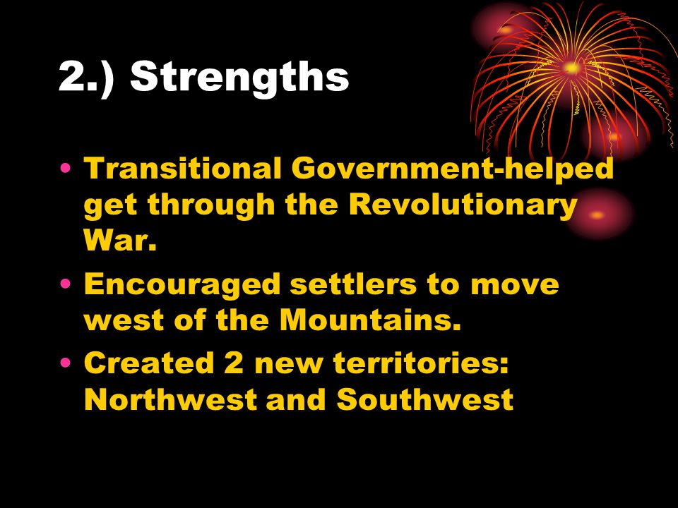 2a.) Passed the Northwest Ordinance Plan to govern Northwest Territory.