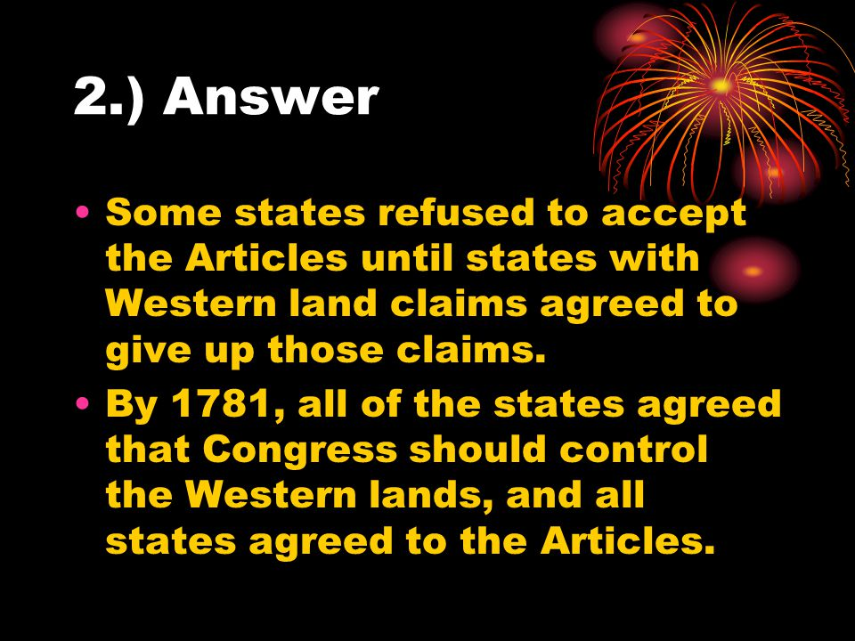 3.) What did the Land Ordinance of 1785 do?