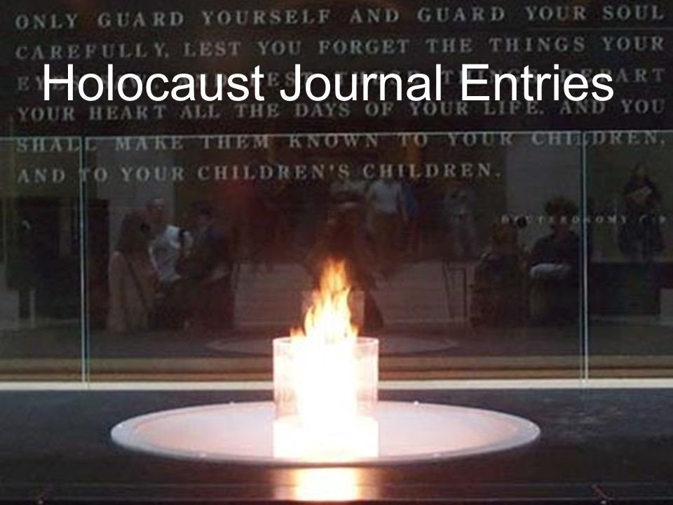 Holocaust Journal Entries