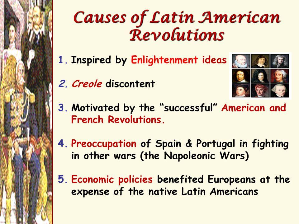 Simón Bolivar: The Brains of the Revolution  Creole leader of the revolutions in Venezuela.