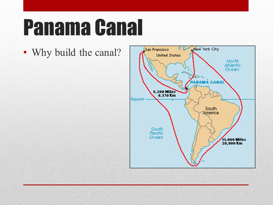 Panama Canal Why build the canal?