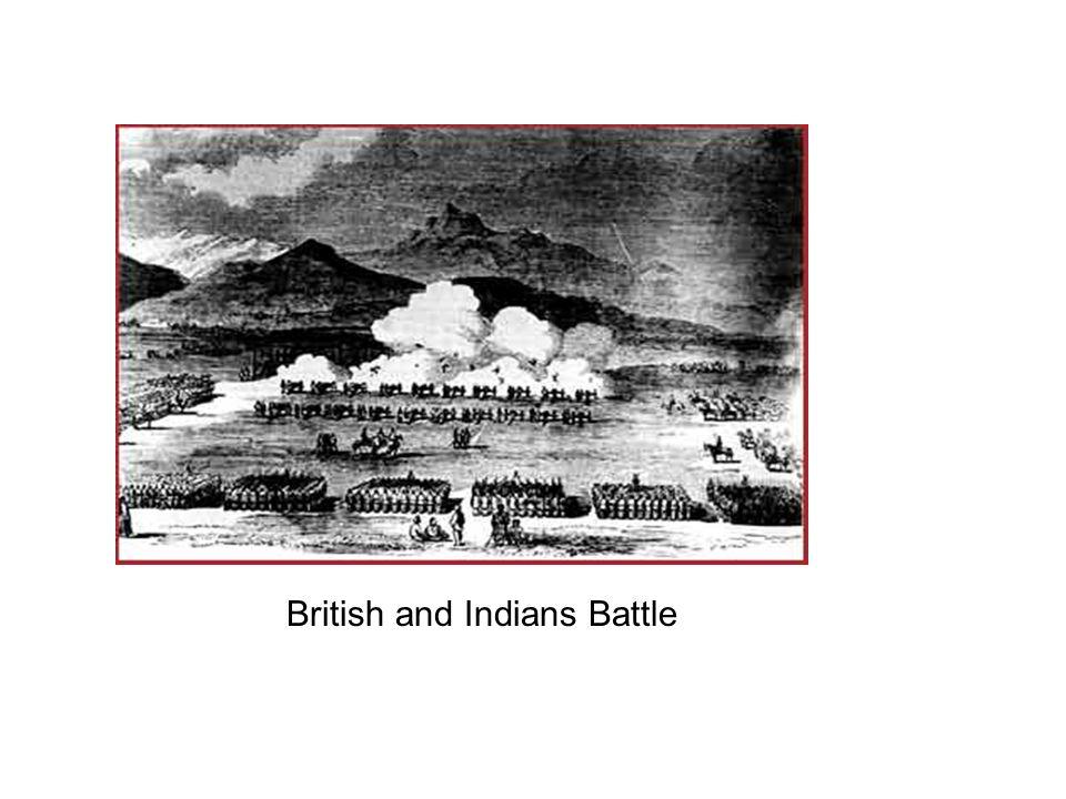 British and Indians Battle