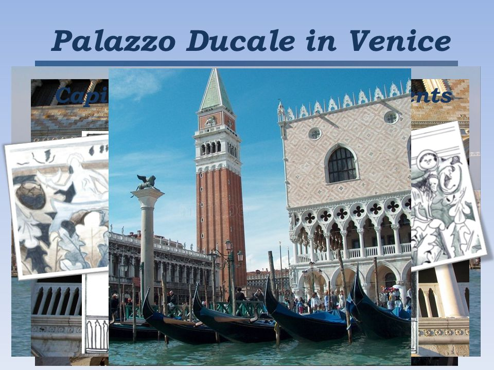 Palazzo Ducale in Venice Capitals made by Italian students