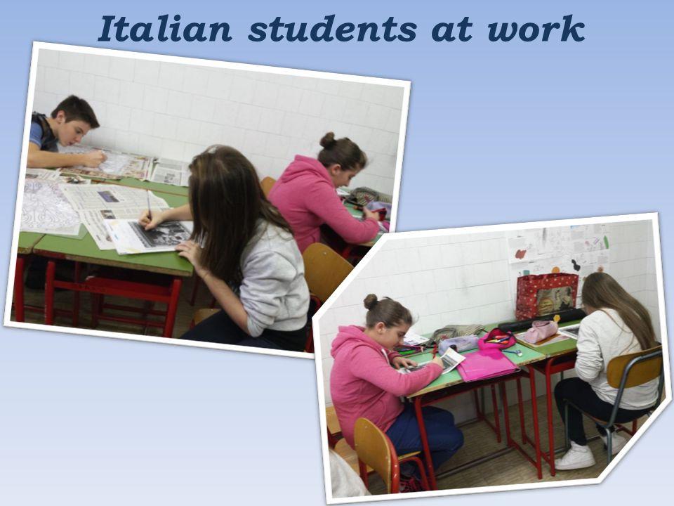 Italian students at work