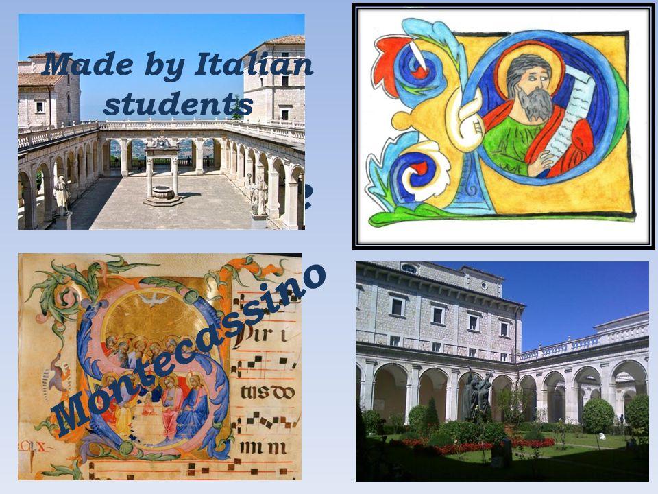 Miniature Art Montecassino Abbey Made by Italian students