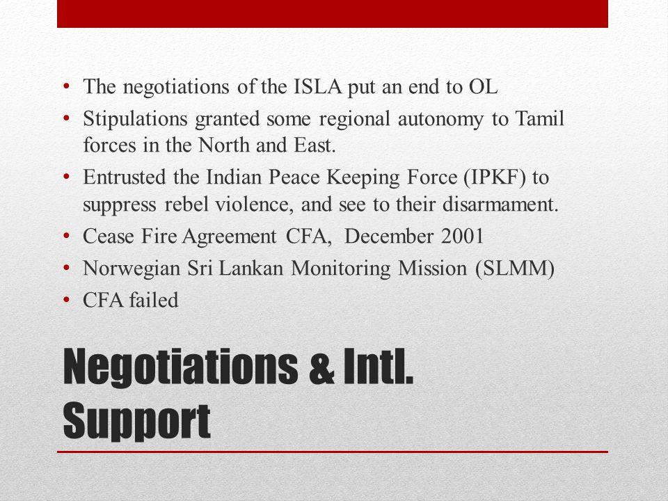 Negotiations & Intl.