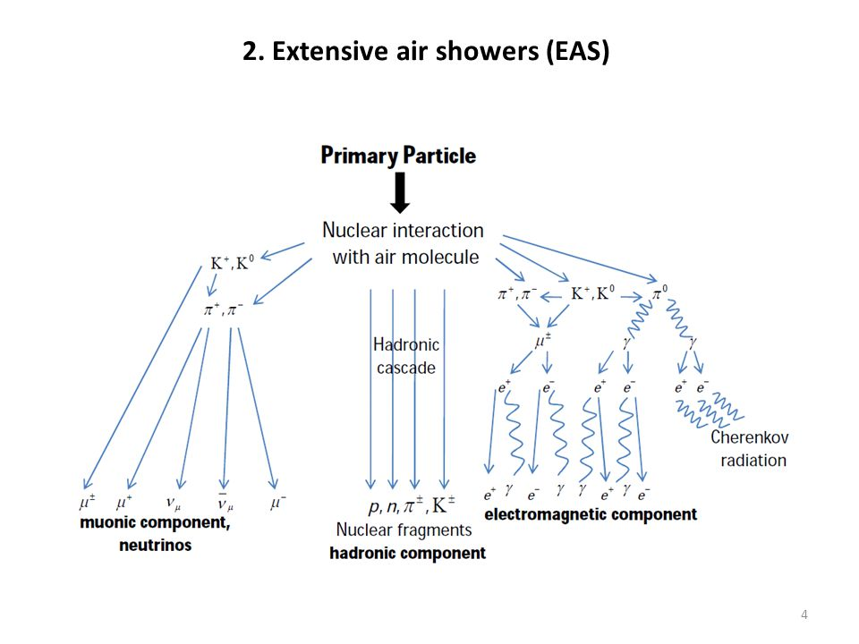 2. Extensive air showers (EAS) 4