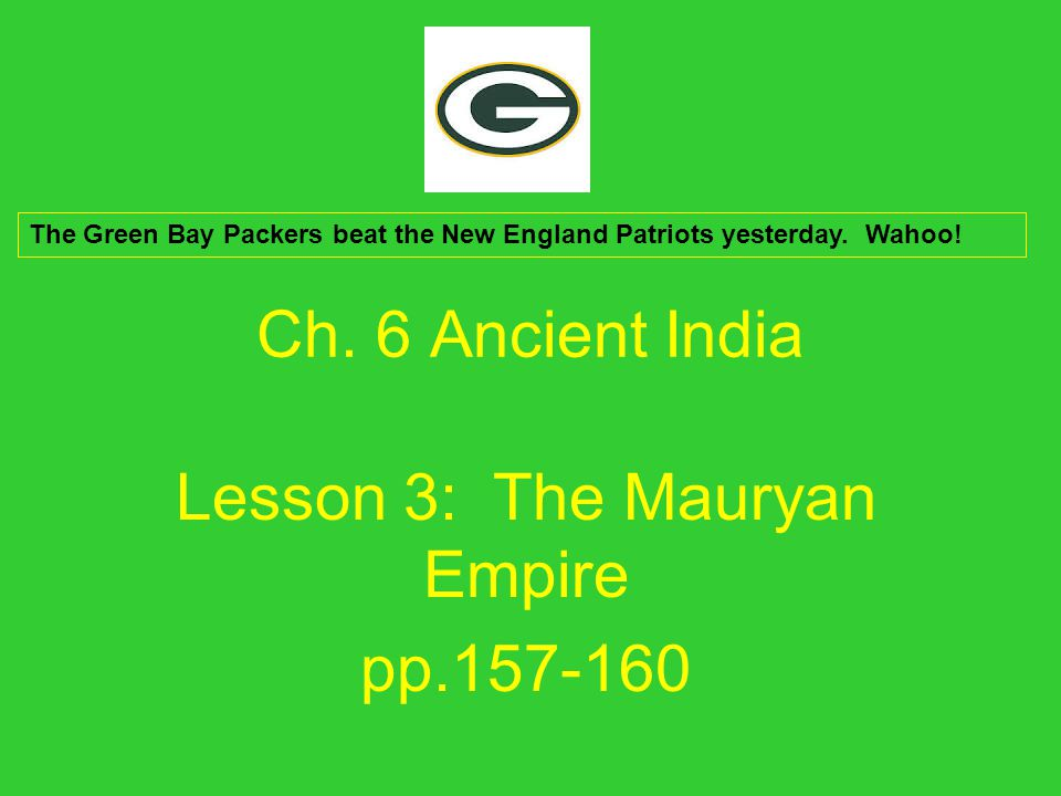 Research Questions Why did the Mauryas Empire grow under Ashoka.