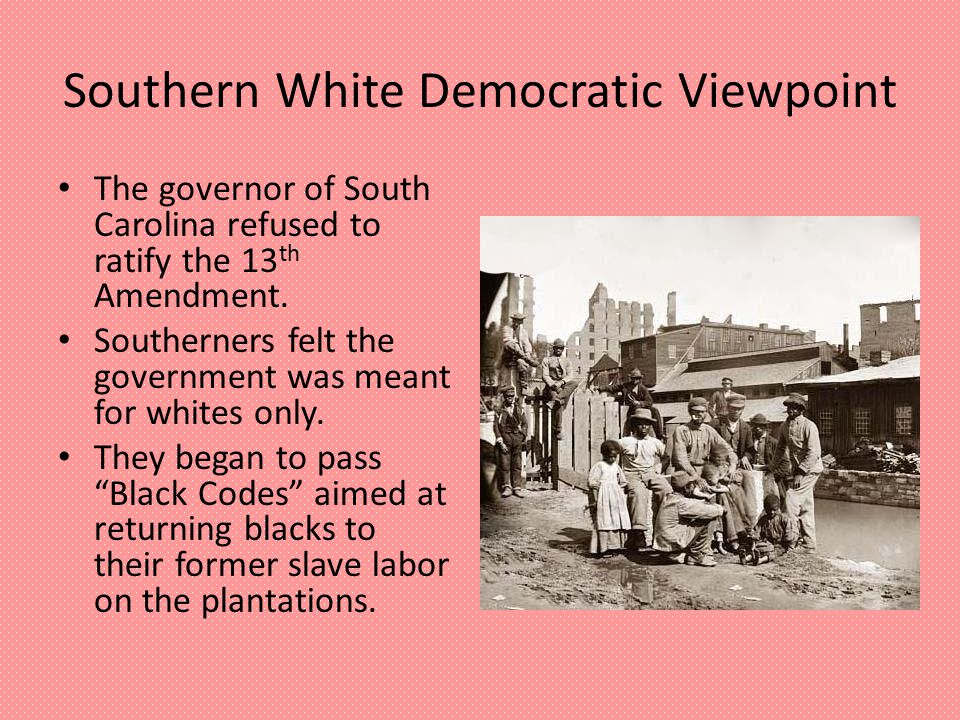 Carpetbaggers' & Scalawags' Viewpoint Carpetbaggers were Northerners who came to the South to invest in rebuilding the South.