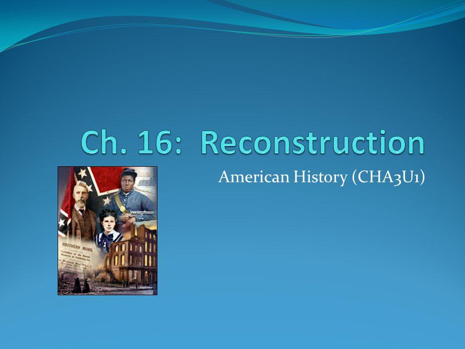 American History (CHA3U1)