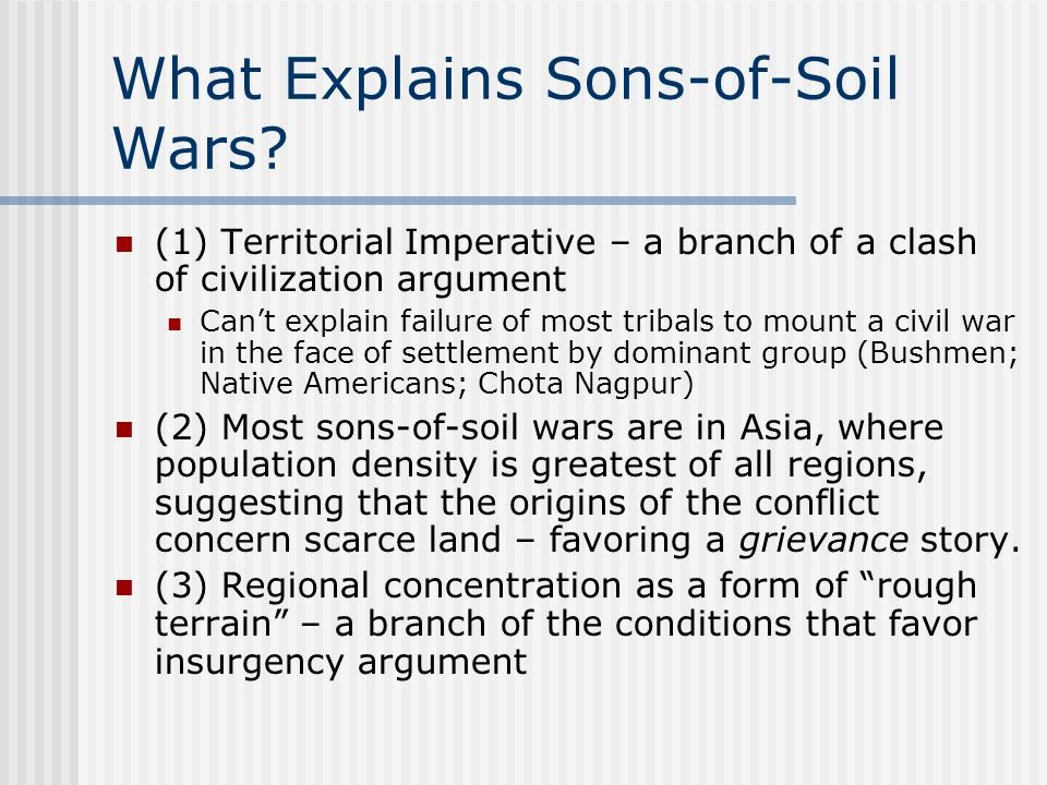 What Explains Sons-of-Soil Wars.