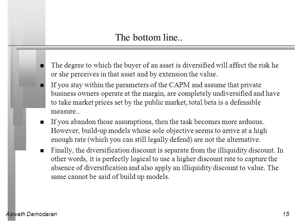 Aswath Damodaran15 The bottom line..