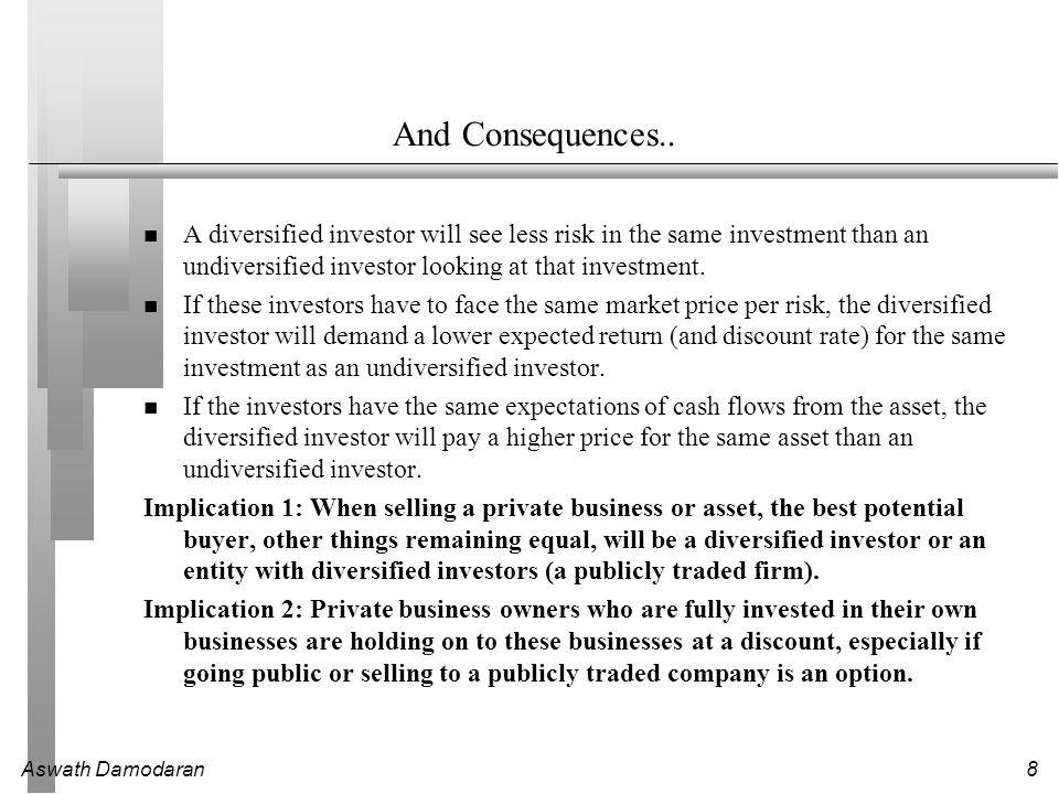 Aswath Damodaran8 And Consequences..