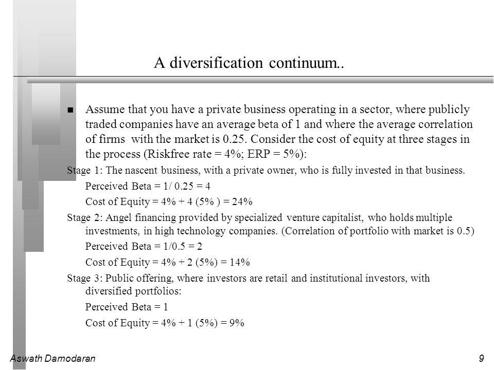 Aswath Damodaran9 A diversification continuum..
