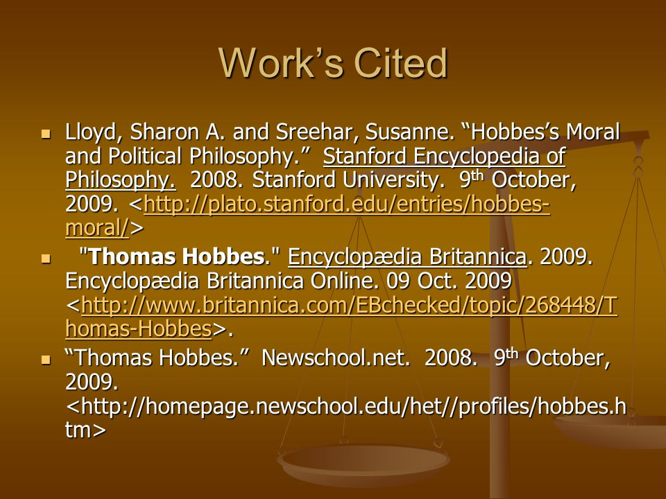 Work's Cited Lloyd, Sharon A.and Sreehar, Susanne.