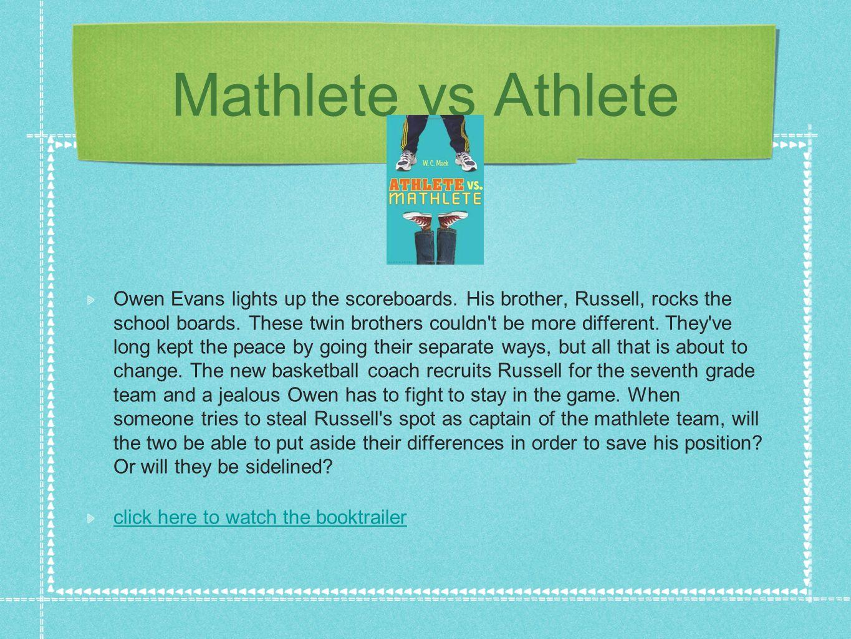 Mathlete vs Athlete Owen Evans lights up the scoreboards.