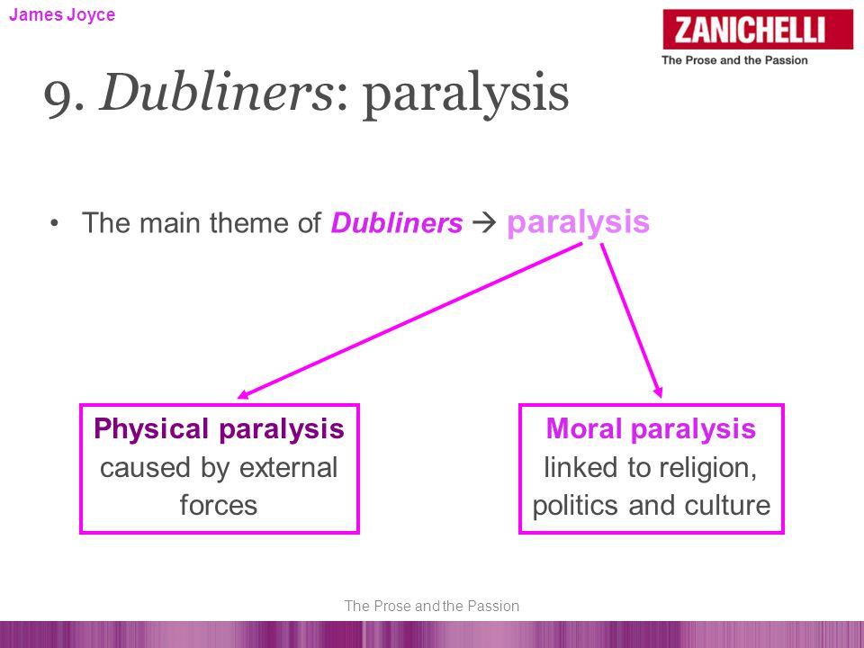 The main theme of Dubliners  paralysis James Joyce 9.