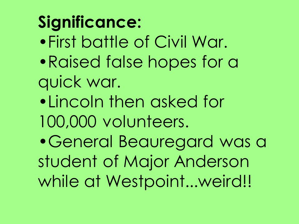 Significance: The turning point of the war.