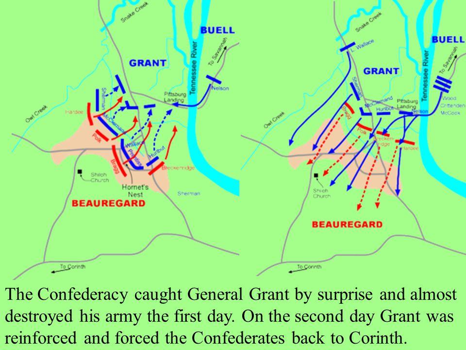 Shiloh, Tennessee Union Commander: General Ulysses Grant Confederate: General Albert Sydney Johnston April 6-7, 1862 Casualties: Union-13,047 Confederate-10,694 Winner: Union