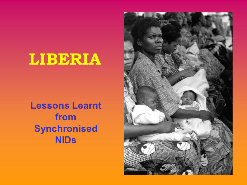 Lessons Learnt from Synchronised NIDs LIBERIA