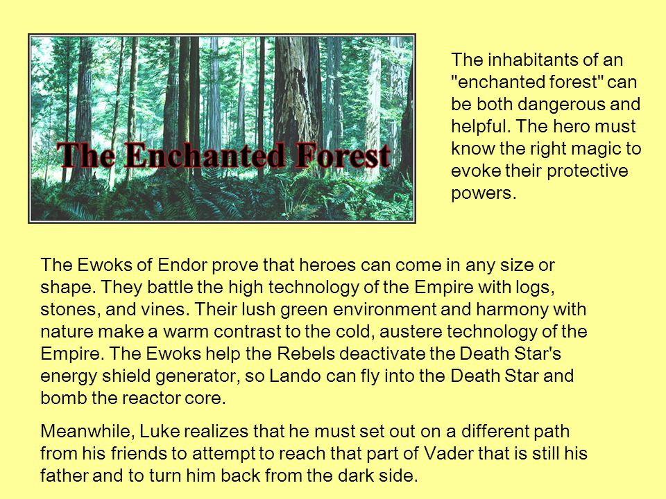 The Ewoks of Endor prove that heroes can come in any size or shape. They battle the high technology of the Empire with logs, stones, and vines. Their