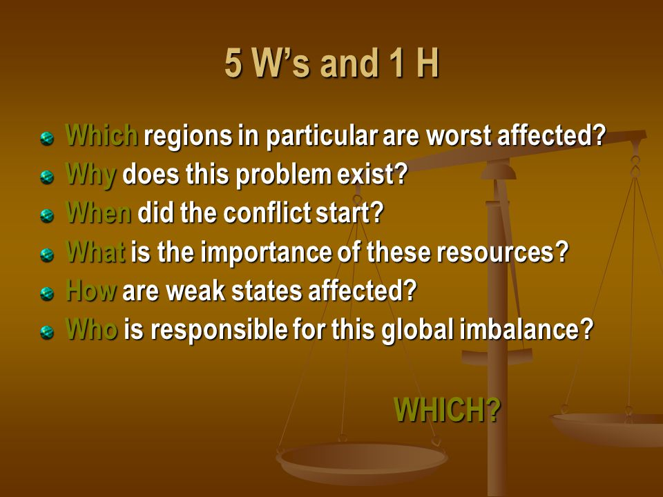 5 W's and 1 H Which regions in particular are worst affected.