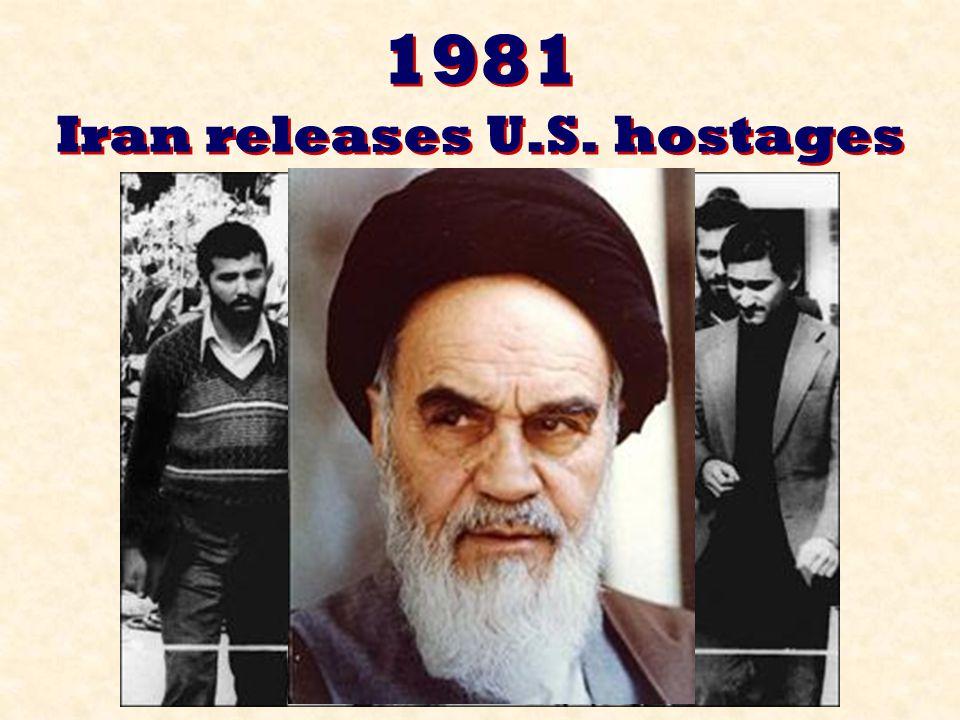 1981 Iran releases U.S. hostages