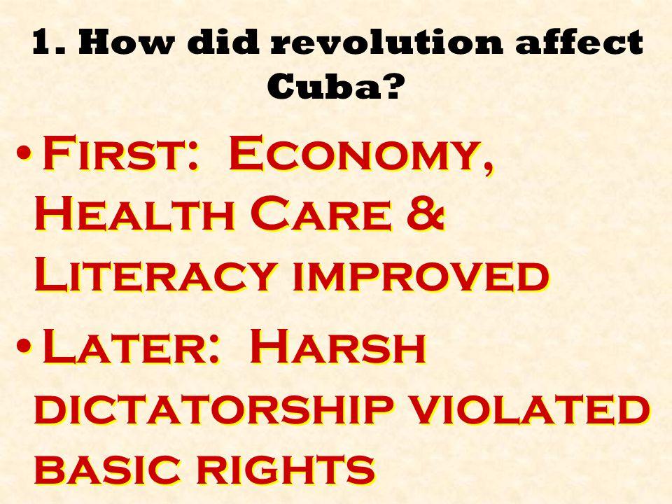 1.How did revolution affect Cuba.