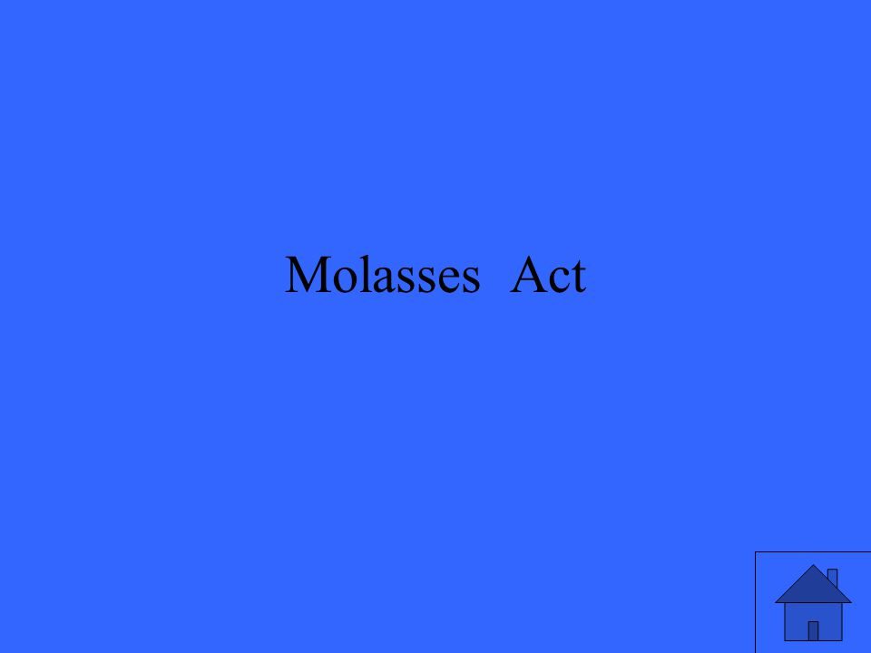 Molasses Act