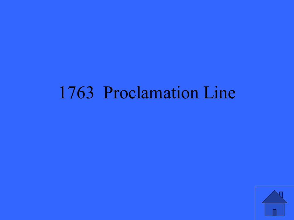 1763 Proclamation Line